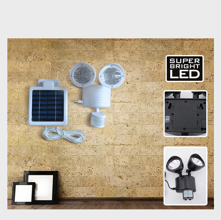 Solar Security Lights/Entry Lights with PIR motion sensor – Waterproof