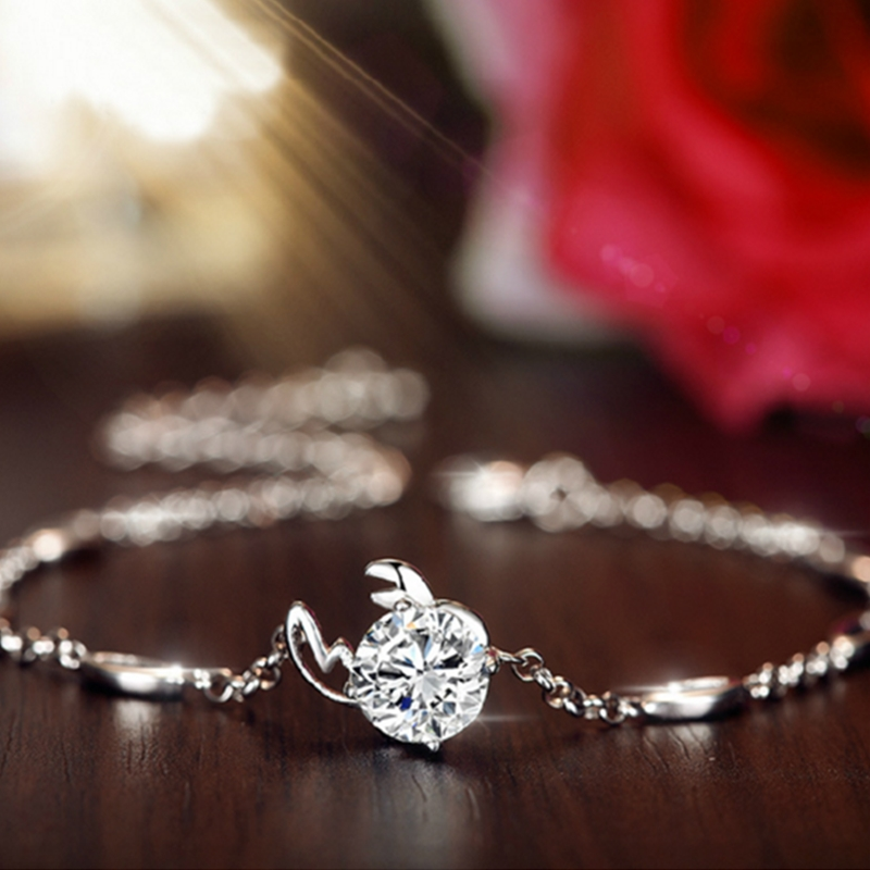 Ms. Crystal Silver plated bracelet twelve constellations retro fashion jewelry in Europe and America Bracelet high quality(China (Mainland))