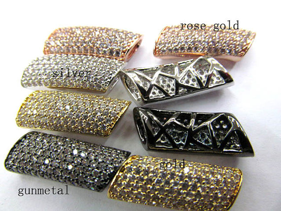 AAA grade 10x20mm 12pcs rhinestone connector pave metal spacer &amp;cubic zirconia crystal column bar jewelry beads<br><br>Aliexpress