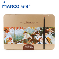 Marco Renoir 48 colors Professional Oily Colored pencils 3.7MM Thick Core black wooden pencil rod