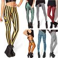 New Design Many Fashion Striped Series Printed Leggings Summer Spring Harajuku Style Creative Leggins Fitness Women