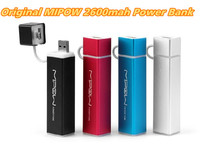 Original MIPOW Power Bank Portable Battery Chargers Mobile Cell Phones Power Bank 2600mAh External Battery Charger Free Shipping(China (Mainland))