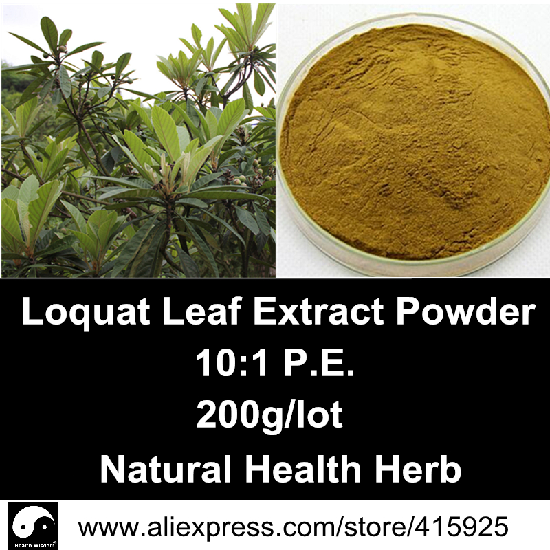 Loquat Leaf Extract Powder 200g Natural Ursolic Acid Herbs Loquat Leaves P.E 10:1 Cough Health Dietary Supplements<br><br>Aliexpress
