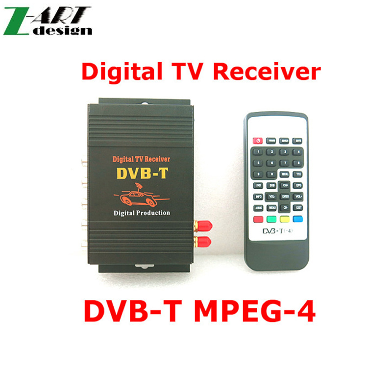 Car DVB-T MPEG-4 Dual Tuner 140-200KM/H DVB T SD Car Digital TV Tuner Receiver for Europe Middle East Australia(China (Mainland))