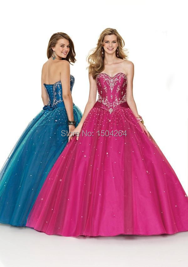 Lovely Lace Up Quinceanera Dresses With Beading Ball Gown Sweetheart Dresses For Birthday Party Vestidos De Debutante 15 Anos(China (Mainland))