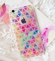 Bird Fruits Colorful Diamond Lattice Case Cover For Apple iPhone 5S 6 6s 6 Plus Case