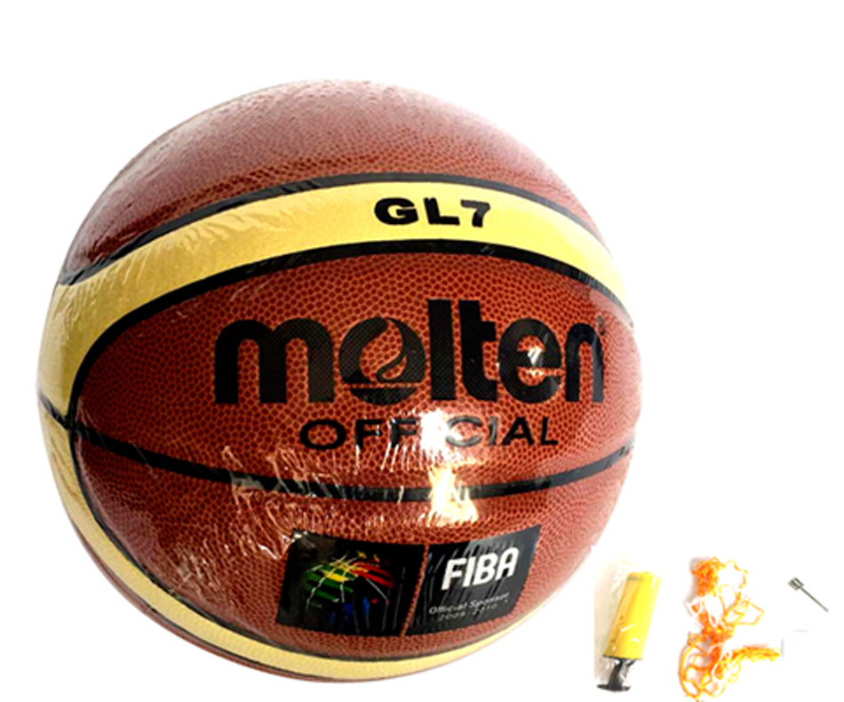 Retail Cheap Molten GL7 Basketball Ball PU Material Official Size 7 Basketball With FREE GIFT Net Bag+ Needle+Pump(China (Mainland))
