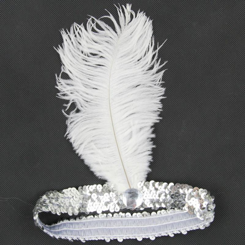 Wholesale 10 Colors Feather Headband Flapper Sequin Headpiece Costume Head Band Party(China (Mainland))