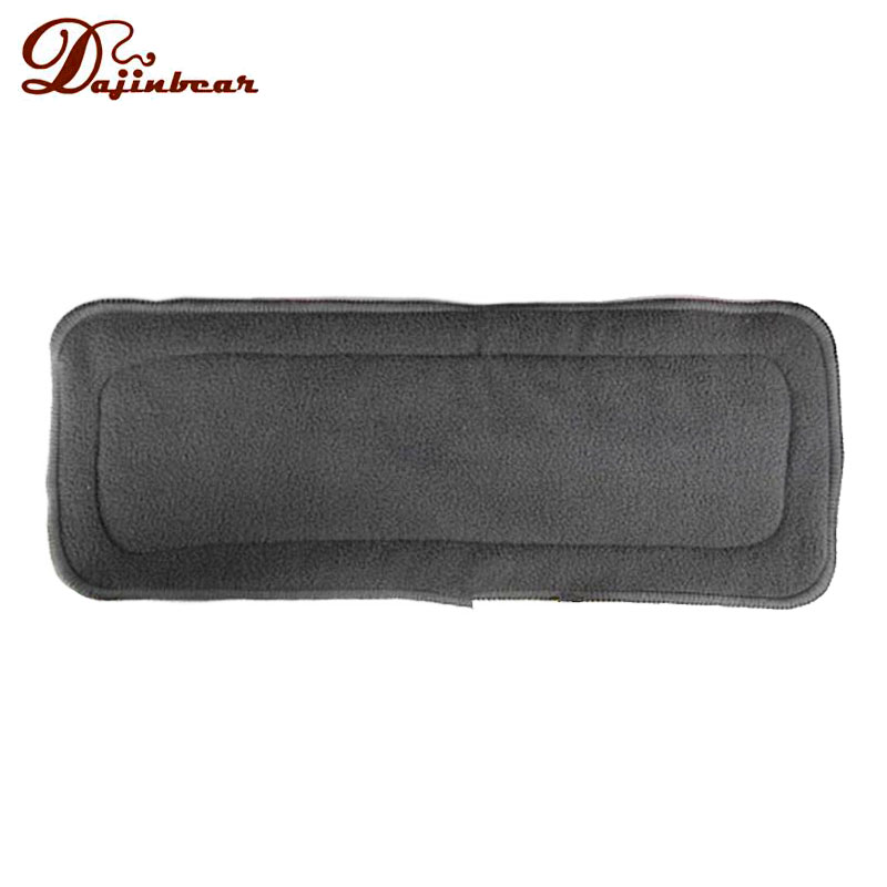 New Arrival 1 PCS 4 Layers Bamboo Charcoal Inserts Cloth Diaper For Baby Diaper Washable Reuseable Baby Diapers