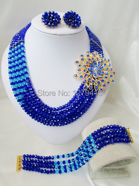 2014 Rushed  Classic Women Crystal Jewelry Sets New Arrived Nigeria Jewelry Set Necklace Africa Beads Set  AAA220<br><br>Aliexpress
