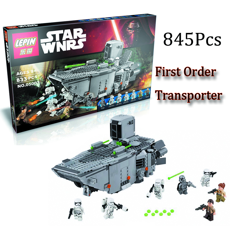 2016 New LEPIN 84Star Wars Force Awakens First Order Transporter Model Building Kits Minifigure Blocks Bricks Toys Gift - II Think Tank Promising store