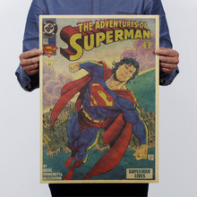 Superman Returns/ Large Vintage Style Decorative Painting Retro Paper Poster Superman 21*13.8in(53*35.5cm)(China (Mainland))