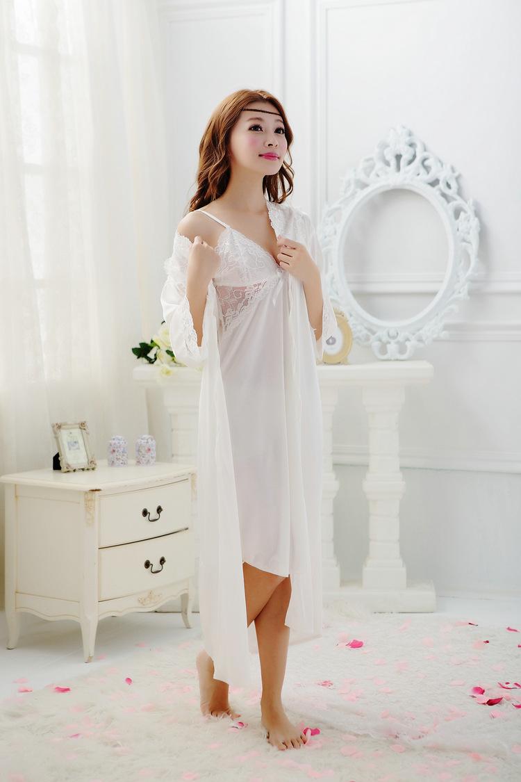 47caddf736 Wholesale- 2016 Summer New Hot Sale Womens Robe Sets Ladies Princess ...