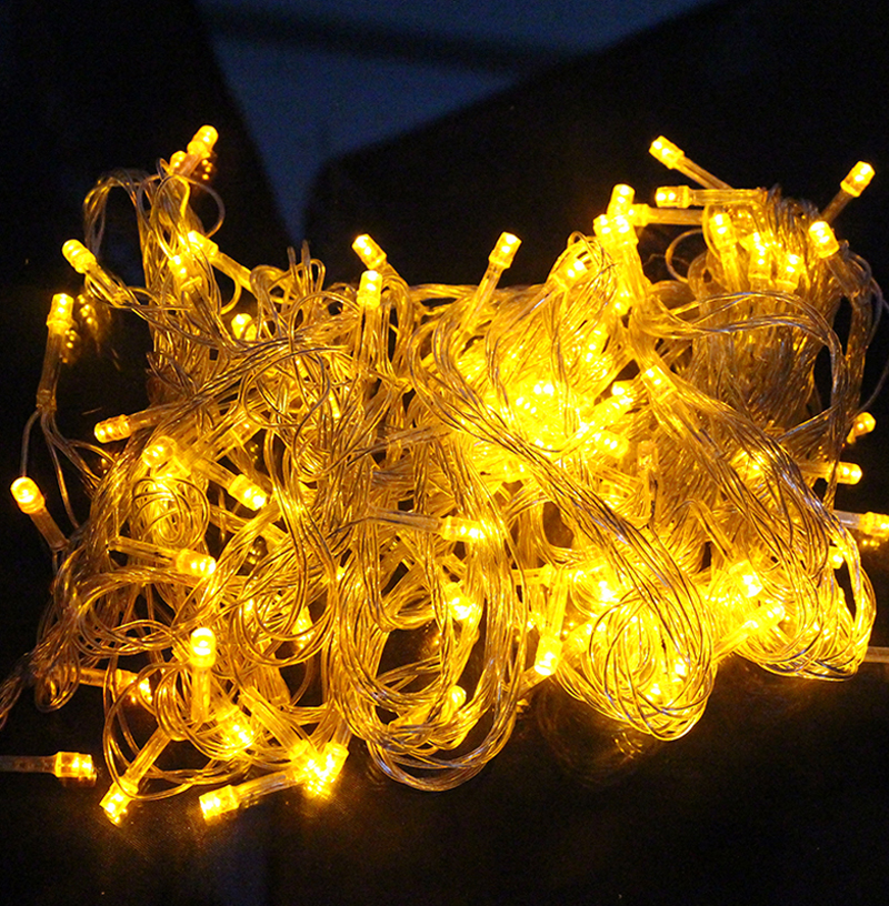 10M 100 LED Home Outdoor Holiday Christmas Decorative Wedding xmas String Fairy Garlands Strip Party Lights free shipping zk93(China (Mainland))