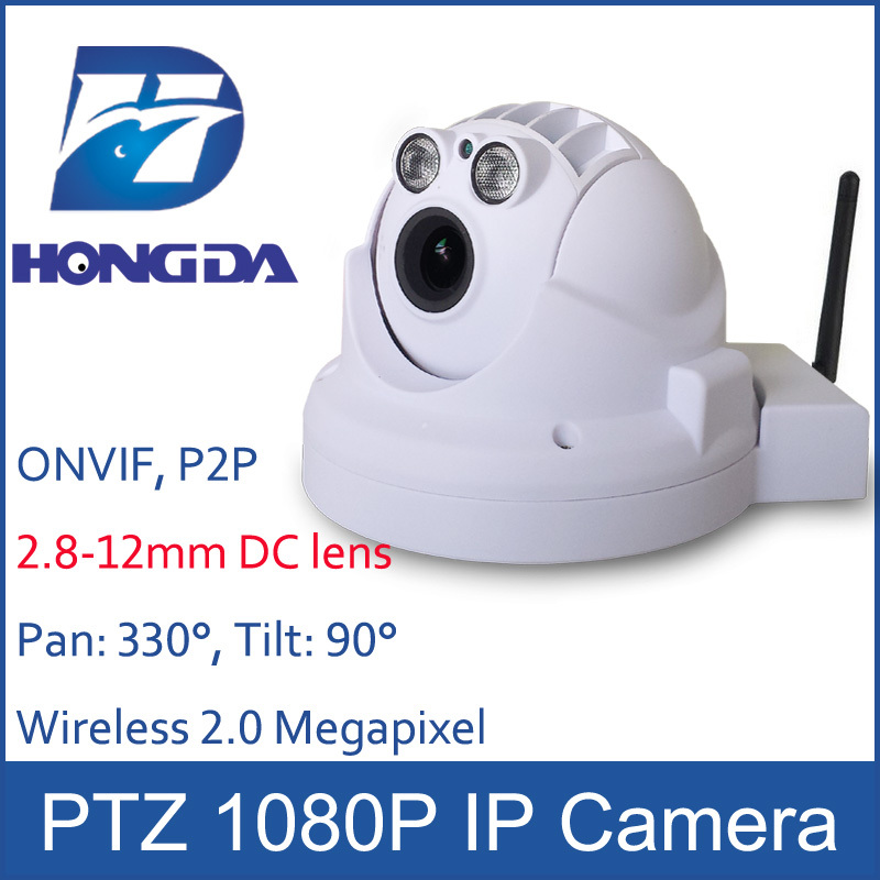 Full HD 1080P WiFi Camera IP Wireless PTZ dome cam Pan & Tilt 2.8-12mm DC lens TF Card slot 2.0 Megapixel 1920*1080 Sony sensor(China (Mainland))