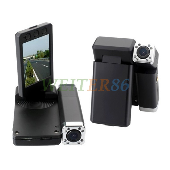 X5000 Dual Lens Car DVR Camera Recorder + Full HD 1440*1080P + 8 IR Night Vision + H.264 Support Drop Shipping(China (Mainland))