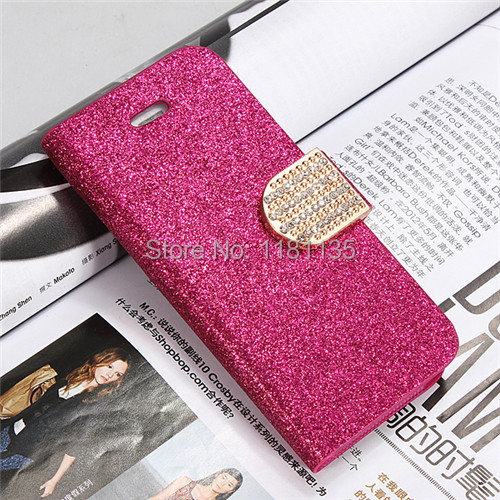 Perfect Luxury Bling Flip Magnetic Stand Wallet Leather PU Card Holder Pouch Bag For Apple For iPhone 5C Case Cover(China (Mainland))