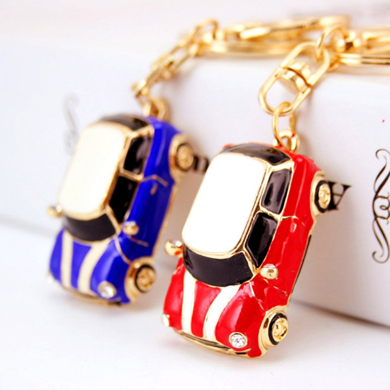 Sporty Mini Car Keychains Fashion Key chain Metal Ring Holder Wallet Bag Charm Accessories Keyrings Women Men Jewelry - BXY Co., Ltd. store