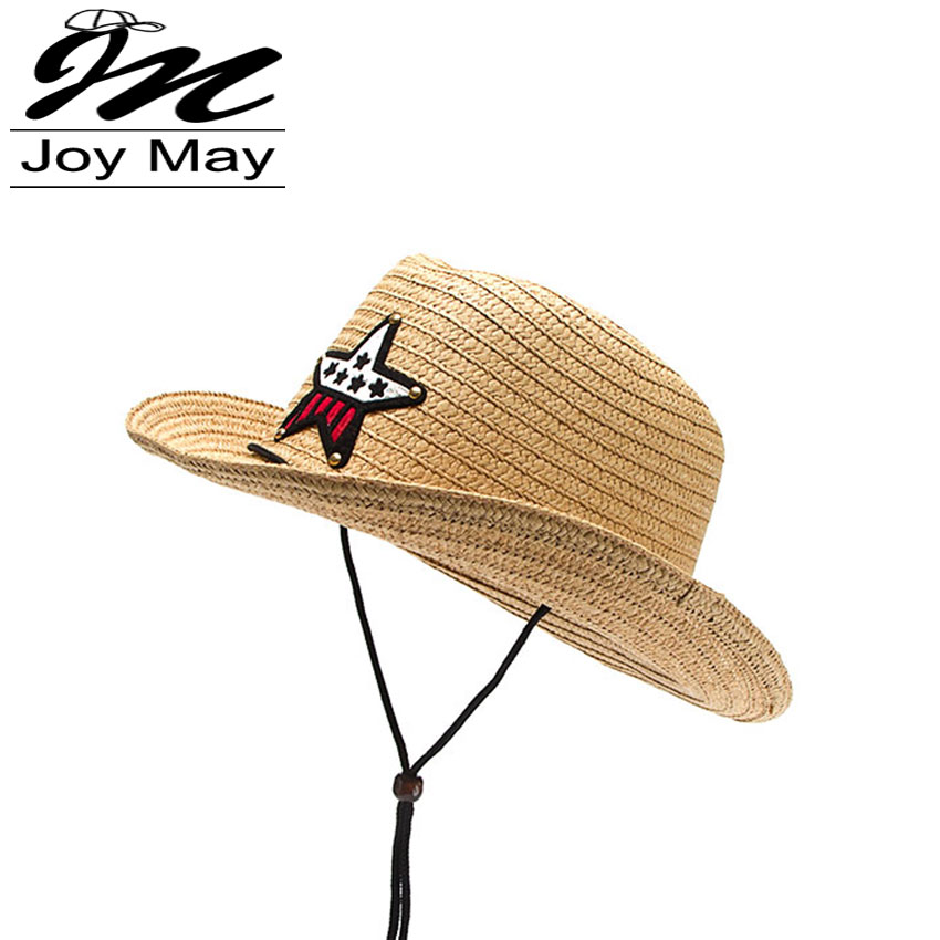 2016 New Design Fashion Kids Children Straw Hat Jazz Formal Cowboy Hat Summer Sun Hat Beach HATS Adjustable unisix C005(China (Mainland))