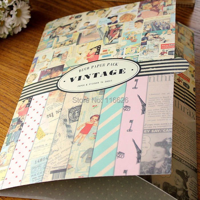 Vintage large gift wrapping paper a size with