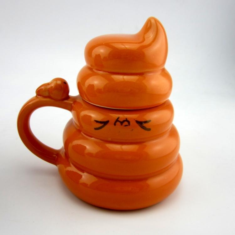 2015 HOT Sale Novelty Faeces Ceramic Milk/Tea Mug Creative Coffee Cup Valentines Gift Free Shipping SH1004(China (Mainland))