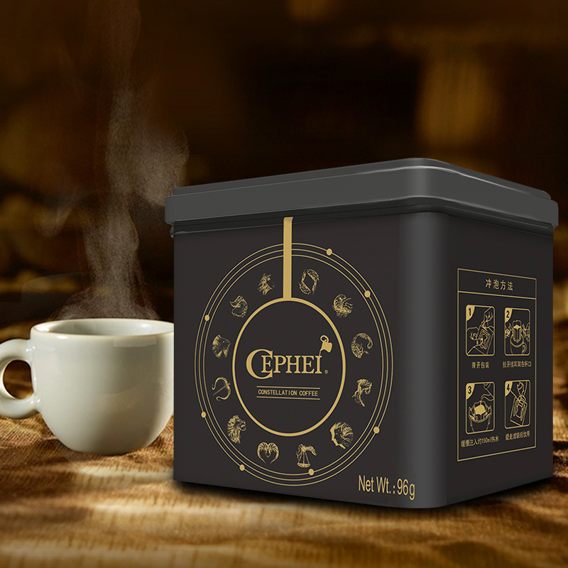 Free shopping CEPHEI Filter hangers package combination coffee without sugar pure black coffee powder box