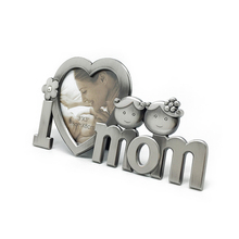I Love Mom Metal Picture Photo Frame (Silver)(China (Mainland))
