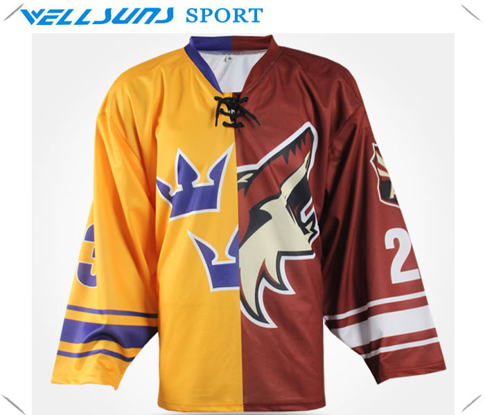 sublimation team set ice hockey jerseys/ ice hockey goalie jersey/ice hockey wear(China (Mainland))