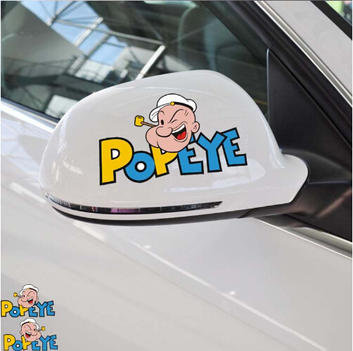 Popeye Funny Car Sticker Rearview Mirror Fashion Personalized Decoration Cartoon Decals Stickers - Smartgives Industrial Co.,Ltd. store