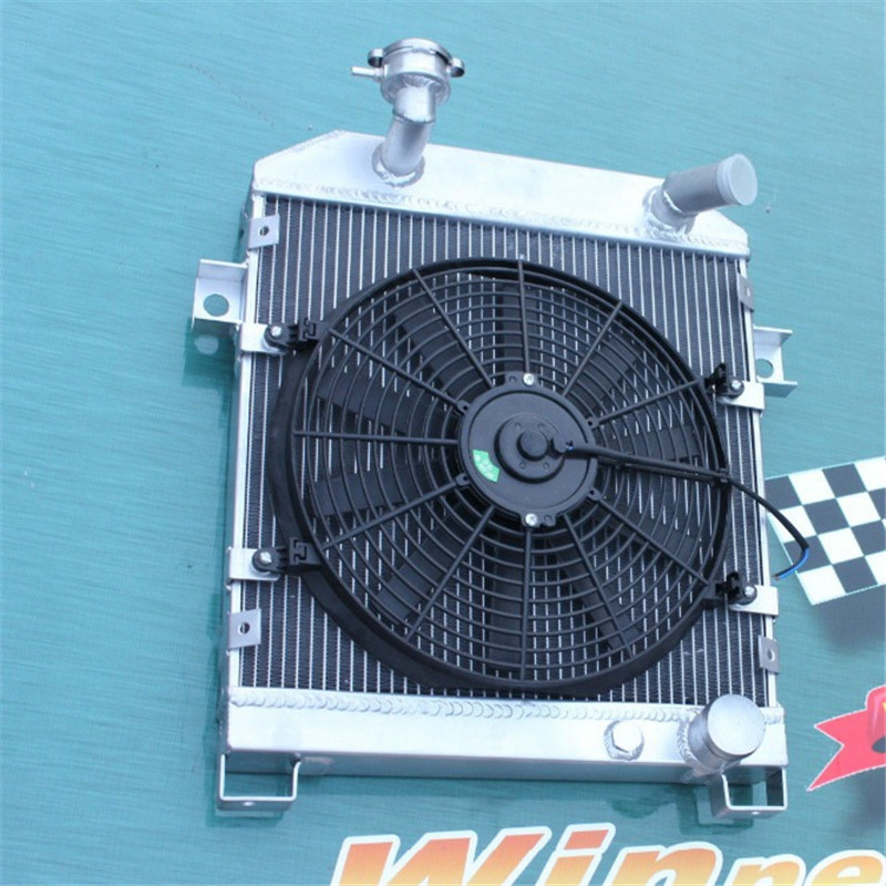 56MM ALLOY RADIATOR&FAN KIT For JAGUAR MK1/MK2 MK I/II S-TYPE SALOON M/T 1955-1967 Good radiator hold your car styling(China (Mainland))
