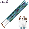 5Pcs Nail Art Brushes Design Painting Drawing Liner Tool Pen Polish Acrylic UV Gel Builder Brush