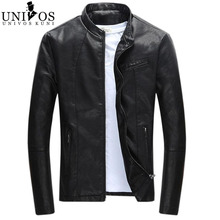 2016 Spring Men's Leather Jacket Brand Clothing Jaqueta Masculina Stand Collar Male Slim Fit Outdoor New Arrival Coats Z2237(China (Mainland))