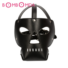 Buy Fetish Sex Toys Leather Sexy Mask Bondage Hood Open Eyes & Mouth Slave Mask Adult Games Sex Toys Sex Product Couples O4 for $4.24 in AliExpress store