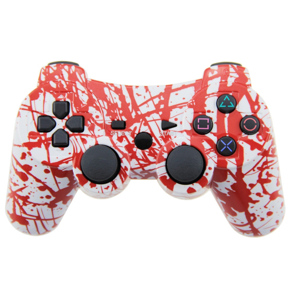 Wireless Controller SIXAXIS Double Vibration Joystick Gamepad Joypad For PS3 Playstation 3 (Blood)(China (Mainland))