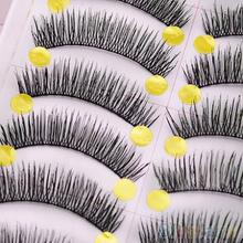 Latest 10 Pairs Handmade Long Thick Cross False Eyelashes Makeup Eye Lashes Extension