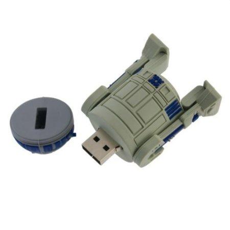 R2D2 Pen drive Star War 8gb 16gb 32gb 64gb Plastic Robot usb 2.0 flash memory card stick disk pendrive gift(China (Mainland))