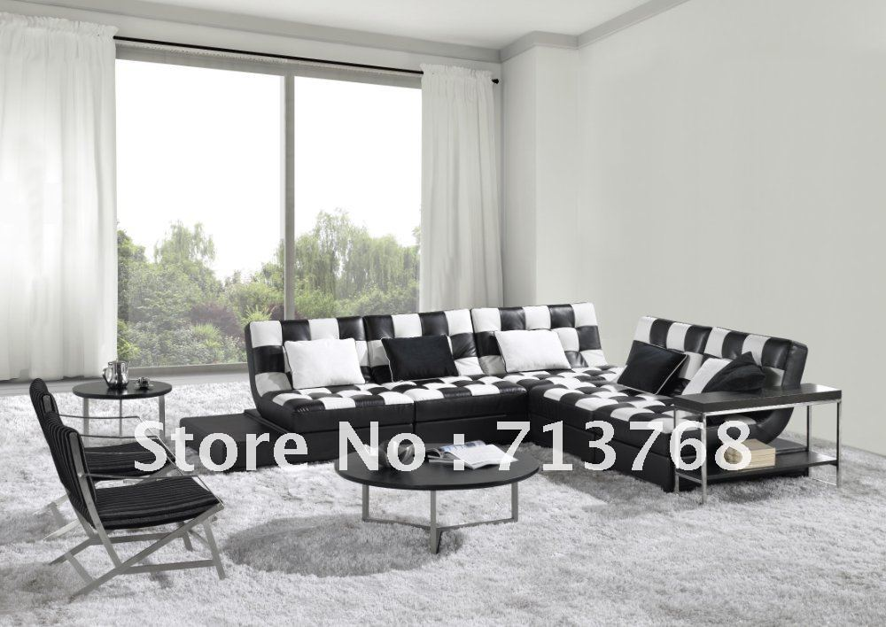 Modern Furniture Living Room Sectional Corner Leather Sofa
