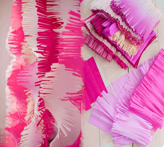 Wholesale 3m Fringed Tissue Paper Streamers Diy Paper