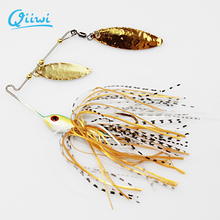 Qiiwi 1PCS Fishing Hard Spinner Lure Spinnerbait Pike Bass 18g/0.63oz Fishing Lures Fresh Water Shallow Water Bass Minno Lures