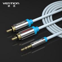 3M 10FT Позолоченные Стерео Y кабель RCA аудио кабель 3,5 мм стерео штекер Мужской 1 до 2 RCA провода акустической системы 3.5