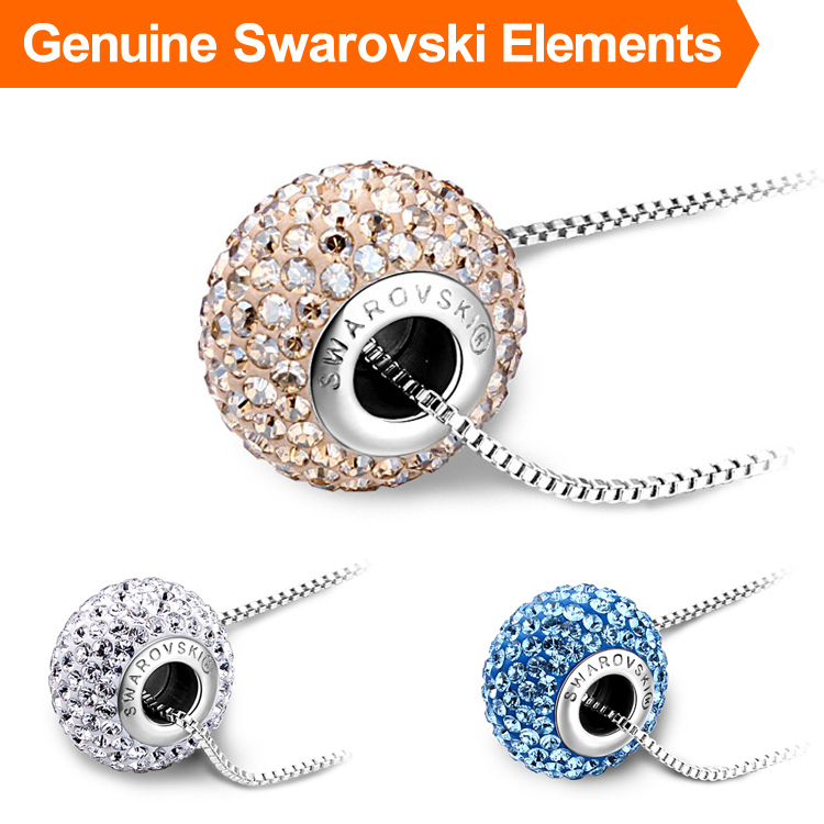 Genuine Brand Logo Crystal Pendant Necklace Made With Swarovski Elements Luxury Necklace For Men & Women Fashion Jewelry NXL0167
