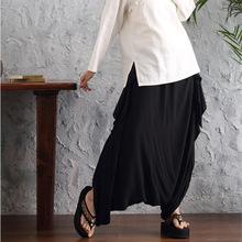 women pants  linen pants Casual Pants Personality Loose Harem Pants Plus Size Elastic Waist Fashion Women Trousers(China (Mainland))
