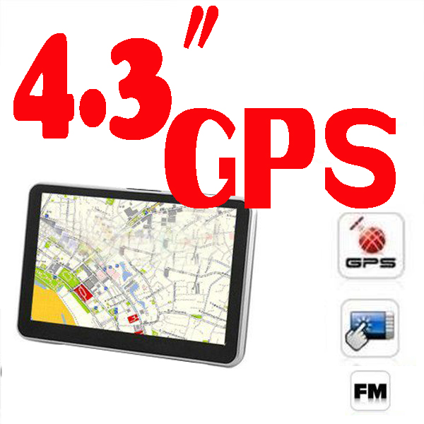 BY DHL OR EMS 200 pieces 4.3 inch car gps navigation Model 802 + FM + built in 4GB 128MB FREE MAP(China (Mainland))