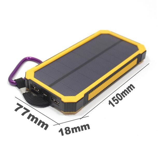 Buy two 10% off 50000mAh Solar Power Bank Battery Charger Dual USB For Mobile Phone PDA MP3