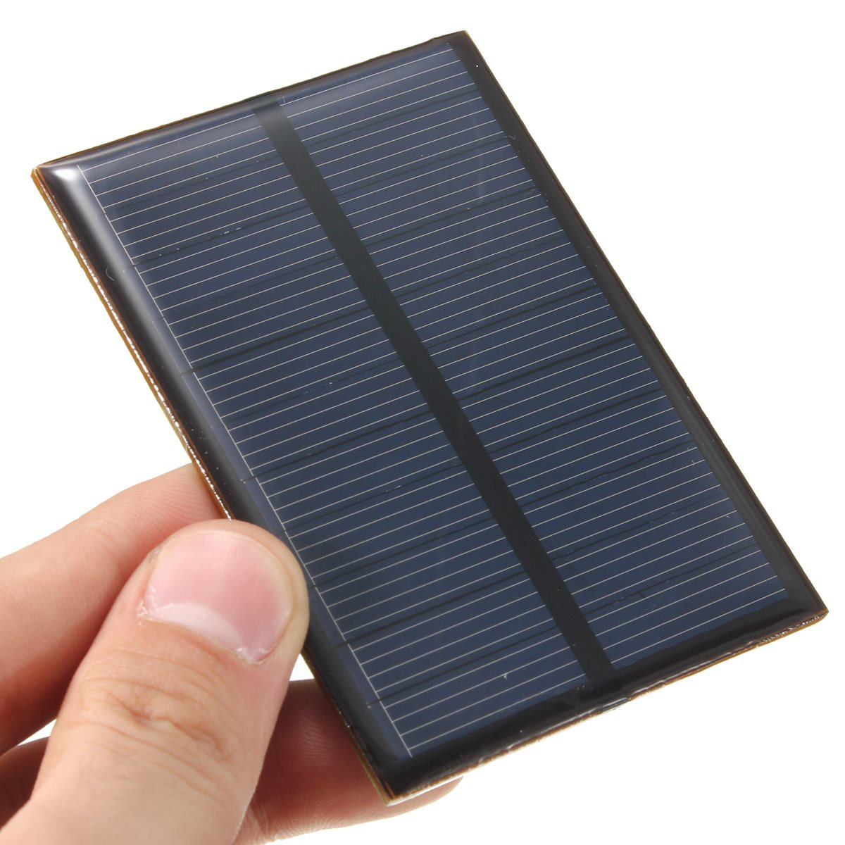 5.5V 0.66W 120mAh DIY Monocrystalline Silicon Epoxy Universal Solar Panel Module Solar Cells Battery Batteries Phone Charger Pro(China (Mainland))
