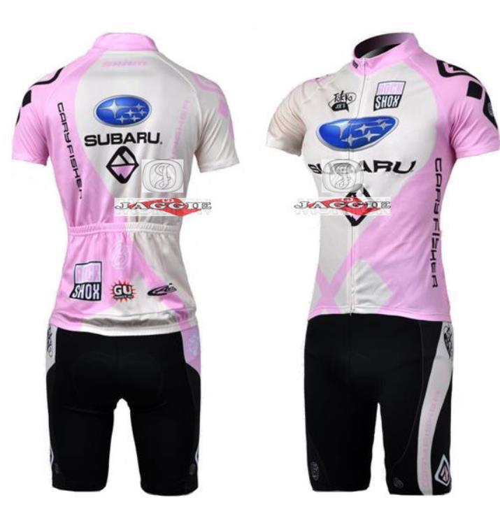 Pro Team Breathable Roupa Cycling Jersey subaru Cycling Clothing / Mountain Bicycle Jerseys / GEL Pad Racing Bike Bib Shorts(China (Mainland))