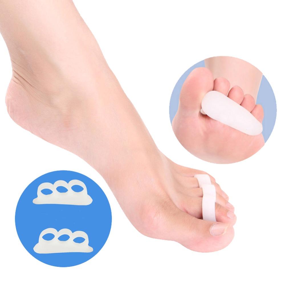 Amazing 2pcs White Gel Toe Separators Stretchers Alignment Bunion Pain Relief