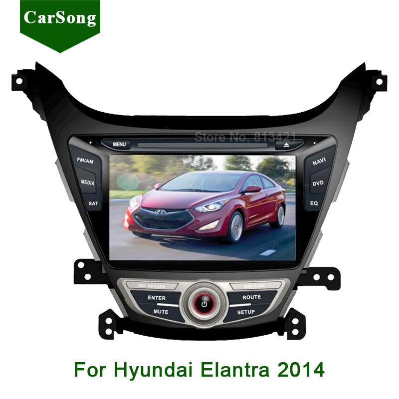 8inch Car DVD Player GPS Navigation For Hyundai Elantra 2014 2 din in Dash Stereo HD Digital Touch screen Bluetooth USB SD IPOD(China (Mainland))