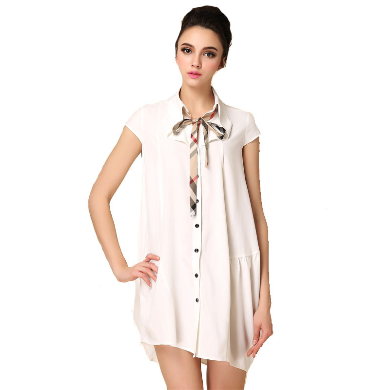 New style Summer women dress Midi dresses fashion Short-sleeve Casual dress vestidos femininos casual Name brand clothing(China (Mainland))