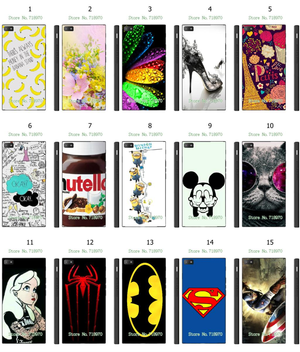 1pc hot hybrid retail 15designs flower colorful cat batman white mobile phone hard cover cases for blackberry z3 free shipping(China (Mainland))